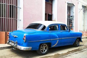 Cuba Fuerte Collection - Blue Cuban Taxi by Philippe Hugonnard