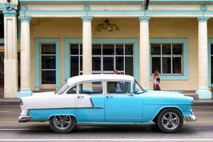 Cuba Fuerte Collection - Blue Vintage Car by Philippe Hugonnard