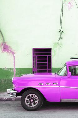 Cuba Fuerte Collection - Classic American Hot Pink Car by Philippe Hugonnard