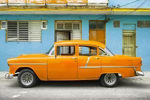 Cuba Fuerte Collection - Classic American Orange Car in Havana by Philippe Hugonnard