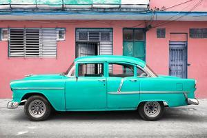 Cuba Fuerte Collection - Classic American Turquoise Car in Havana by Philippe Hugonnard