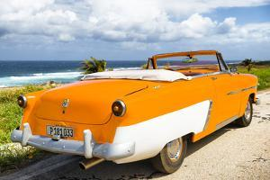 Cuba Fuerte Collection - Classic Orange Car Cabriolet by Philippe Hugonnard