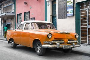 Cuba Fuerte Collection - Classic Orange Car by Philippe Hugonnard