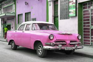 Cuba Fuerte Collection - Classic Pink Car by Philippe Hugonnard