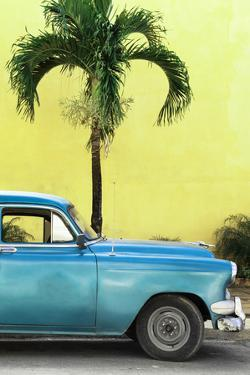 Cuba Fuerte Collection - Close-up of Beautiful Retro Blue Car by Philippe Hugonnard