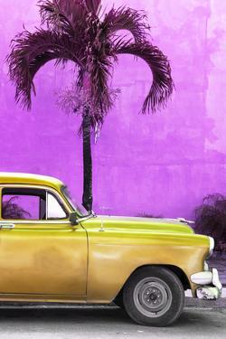 Cuba Fuerte Collection - Close-up of Beautiful Retro Golden Car by Philippe Hugonnard