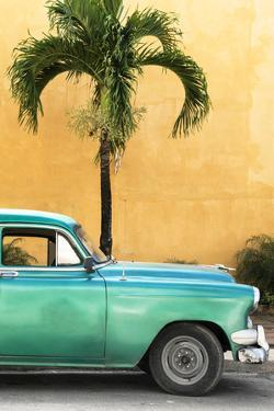 Cuba Fuerte Collection - Close-up of Beautiful Retro Green Car by Philippe Hugonnard