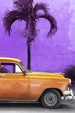 Cuba Fuerte Collection - Close-up of Beautiful Retro Orange Car by Philippe Hugonnard
