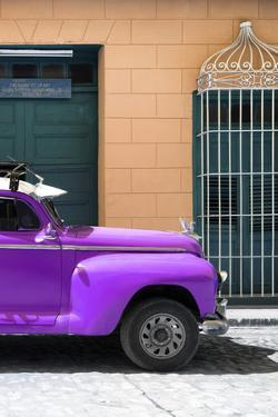 Cuba Fuerte Collection - Close-up of Purple Vintage Car by Philippe Hugonnard
