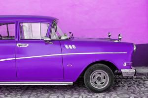 Cuba Fuerte Collection - Close-up of Retro Purple Car by Philippe Hugonnard