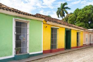 Cuba Fuerte Collection - Colorful Street Scene in Trinidad II by Philippe Hugonnard