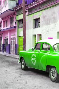 Cuba Fuerte Collection - Green Taxi Car in Havana by Philippe Hugonnard