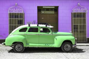 Cuba Fuerte Collection - Green Vintage Car Trinidad by Philippe Hugonnard