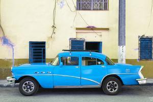 Cuba Fuerte Collection - Havana Classic American Blue Car by Philippe Hugonnard
