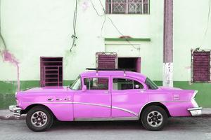 Cuba Fuerte Collection - Havana Classic American Hot Pink Car by Philippe Hugonnard