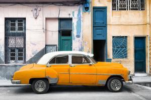 Cuba Fuerte Collection - Havana's Orange Vintage Car by Philippe Hugonnard