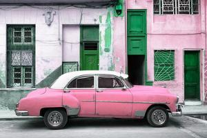 Cuba Fuerte Collection - Havana's Pink Vintage Car by Philippe Hugonnard