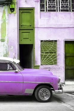 Cuba Fuerte Collection - Havana's Purple Vintage Car II by Philippe Hugonnard