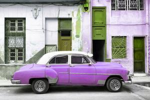 Cuba Fuerte Collection - Havana's Purple Vintage Car by Philippe Hugonnard