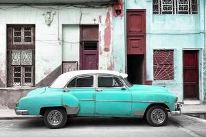 Cuba Fuerte Collection - Havana's Turquoise Vintage Car by Philippe Hugonnard