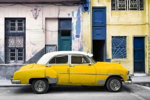 Cuba Fuerte Collection - Havana's Yellow Vintage Car by Philippe Hugonnard