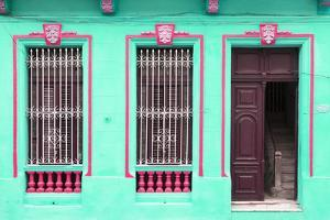 Cuba Fuerte Collection - Havana Turquoise Façade by Philippe Hugonnard