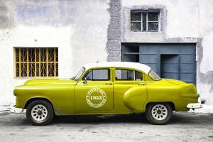 Cuba Fuerte Collection - Lime Green Pontiac 1953 Original Classic Car by Philippe Hugonnard