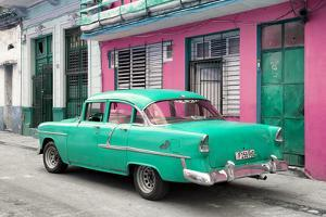 Cuba Fuerte Collection - Old Cuban Coral Green Car by Philippe Hugonnard