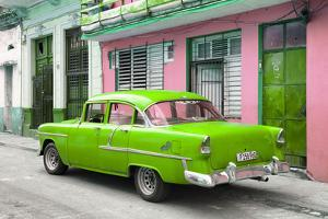Cuba Fuerte Collection - Old Cuban Green Car by Philippe Hugonnard