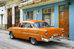 Cuba Fuerte Collection - Old Cuban Orange Car by Philippe Hugonnard