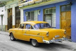 Cuba Fuerte Collection - Old Cuban Yellow Car by Philippe Hugonnard