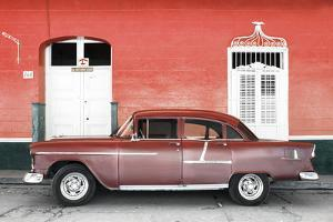 Cuba Fuerte Collection - Old Red Car by Philippe Hugonnard