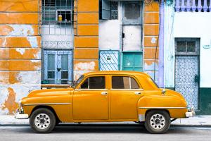 Cuba Fuerte Collection - Orange Classic American Car by Philippe Hugonnard