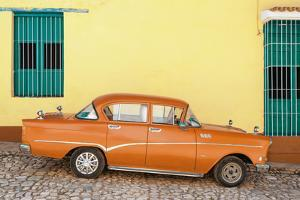 Cuba Fuerte Collection - Orange Classic Car in Trinidad by Philippe Hugonnard