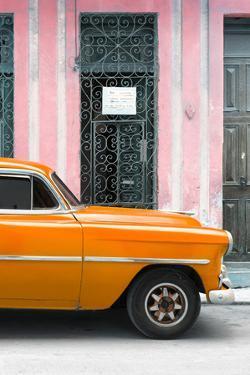 Cuba Fuerte Collection - Orange Classic Car by Philippe Hugonnard