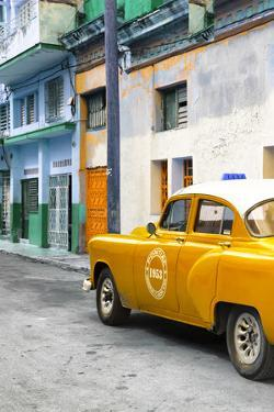 Cuba Fuerte Collection - Orange Taxi Car in Havana by Philippe Hugonnard