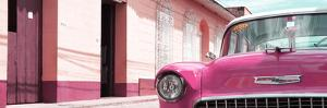 Cuba Fuerte Collection Panoramic - 1955 Chevy Pink Car by Philippe Hugonnard