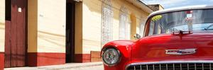 Cuba Fuerte Collection Panoramic - 1955 Chevy Red Car by Philippe Hugonnard