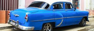 Cuba Fuerte Collection Panoramic - American Classic Blue Car by Philippe Hugonnard