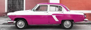 Cuba Fuerte Collection Panoramic - American Classic Car White and Dark Pink by Philippe Hugonnard