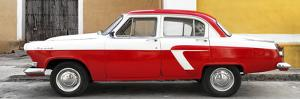 Cuba Fuerte Collection Panoramic - American Classic Car White and Red by Philippe Hugonnard