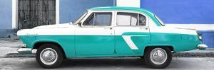Cuba Fuerte Collection Panoramic - American Classic Car White and Turquoise by Philippe Hugonnard