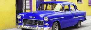 Cuba Fuerte Collection Panoramic - Beautiful Classic American Blue Car by Philippe Hugonnard