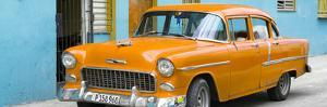 Cuba Fuerte Collection Panoramic - Beautiful Classic American Orange Car by Philippe Hugonnard