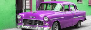 Cuba Fuerte Collection Panoramic - Beautiful Classic American Purple Car by Philippe Hugonnard