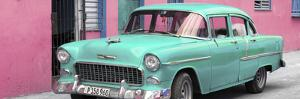 Cuba Fuerte Collection Panoramic - Beautiful Classic American Turquoise Car by Philippe Hugonnard