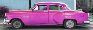 Cuba Fuerte Collection Panoramic - Beautiful Retro Pink Car by Philippe Hugonnard