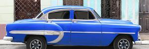 Cuba Fuerte Collection Panoramic - Blue Bel Air Classic Car by Philippe Hugonnard