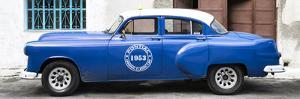 Cuba Fuerte Collection Panoramic - Blue Pontiac 1953 Original Classic Car by Philippe Hugonnard