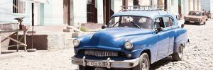 Cuba Fuerte Collection Panoramic - Blue Taxi in Trinidad by Philippe Hugonnard